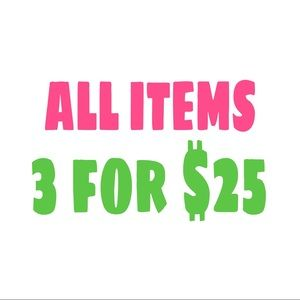 ALL Items No Exceptions!